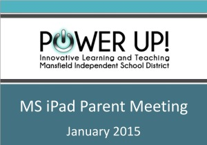 IPAD PARENT MEETING POWER POINT INFORMATION