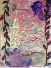 encaustic leaves